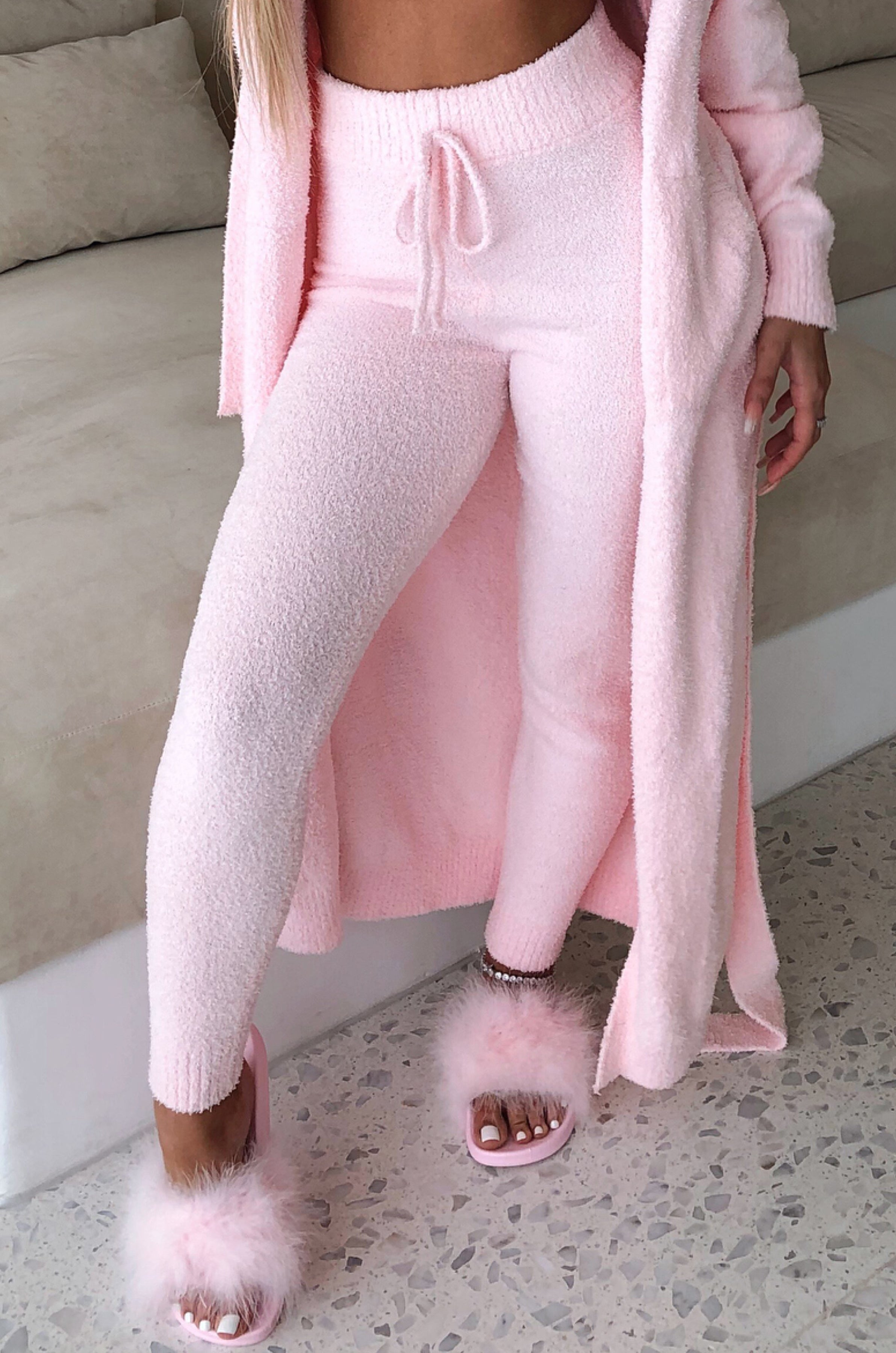 Bree Cozy Pants - Baby Pink