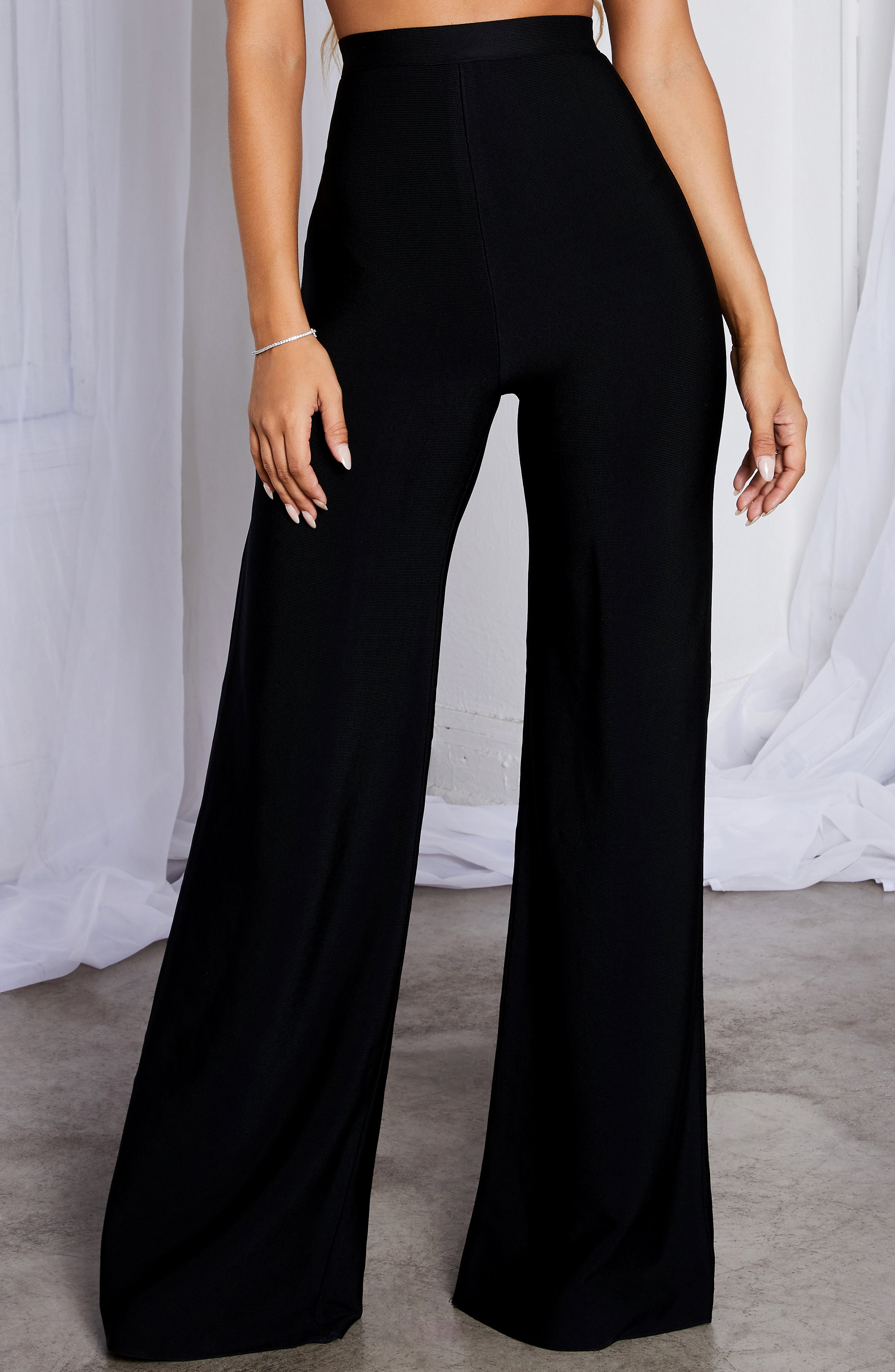 Raven Bandage Pants - Black
