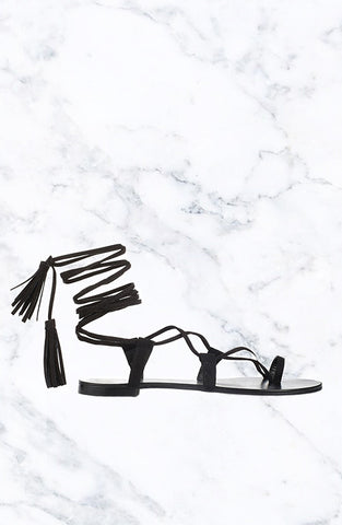 REISS Sandals - Black Suede
