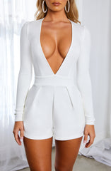 Retrospect Playsuit - White