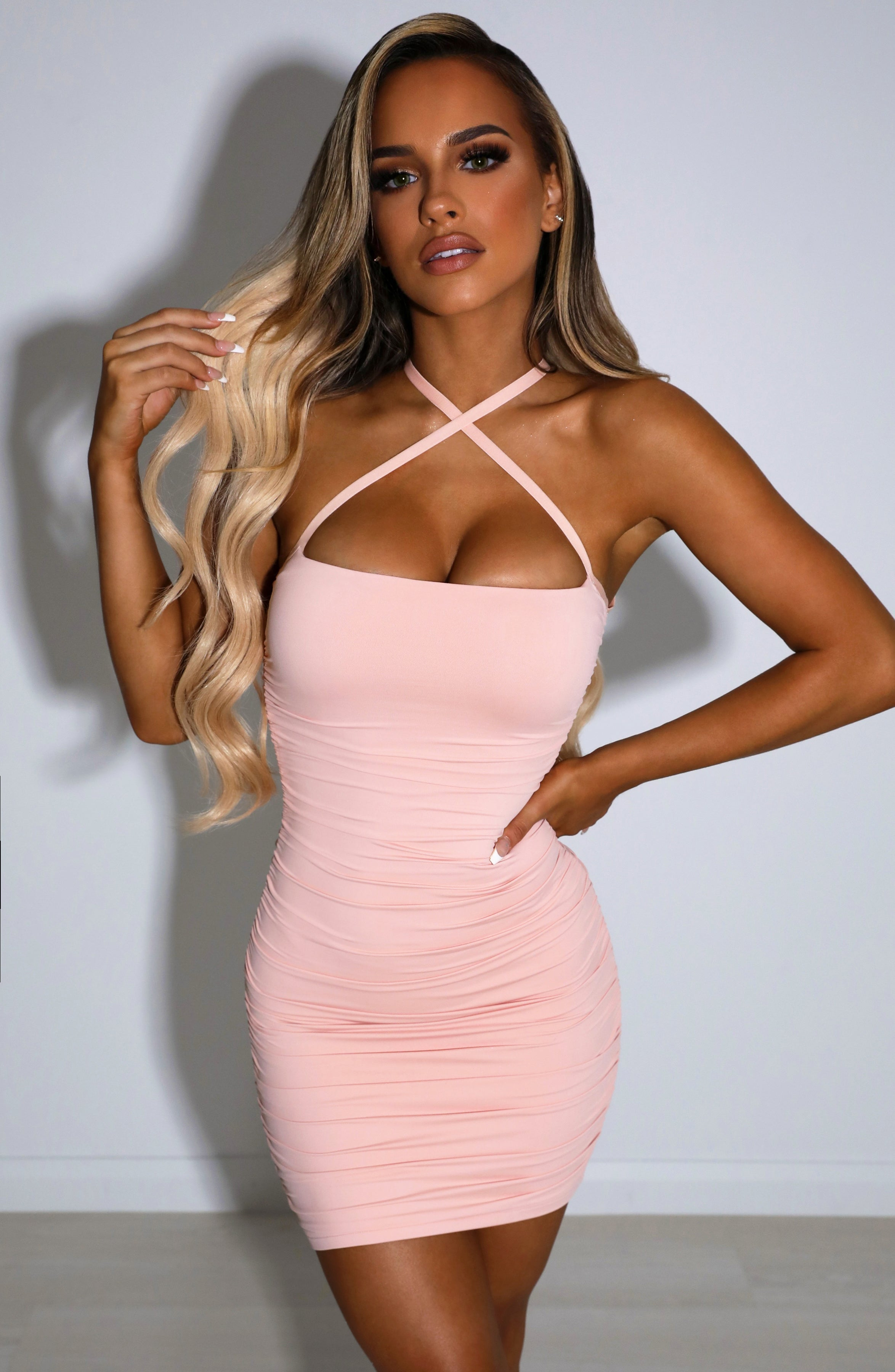 Rianna Mini Dress - Blush