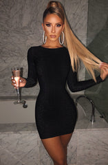 Rilee Mini Dress - Black Sparkle
