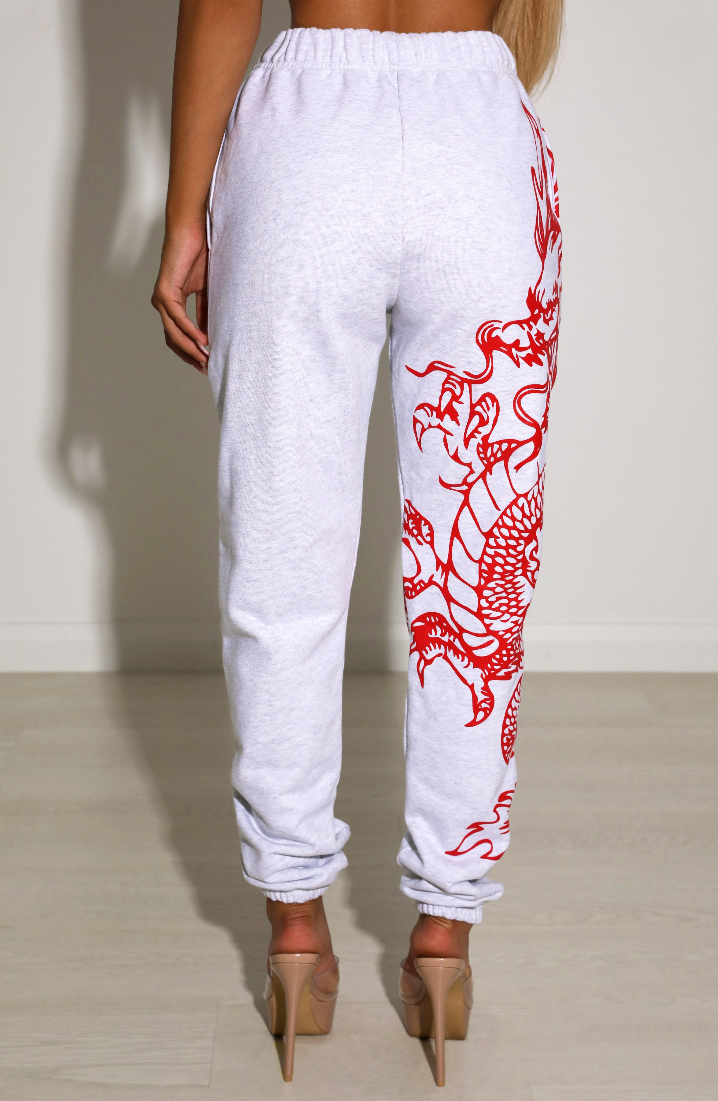 Riri Dragon Trackpants - Red