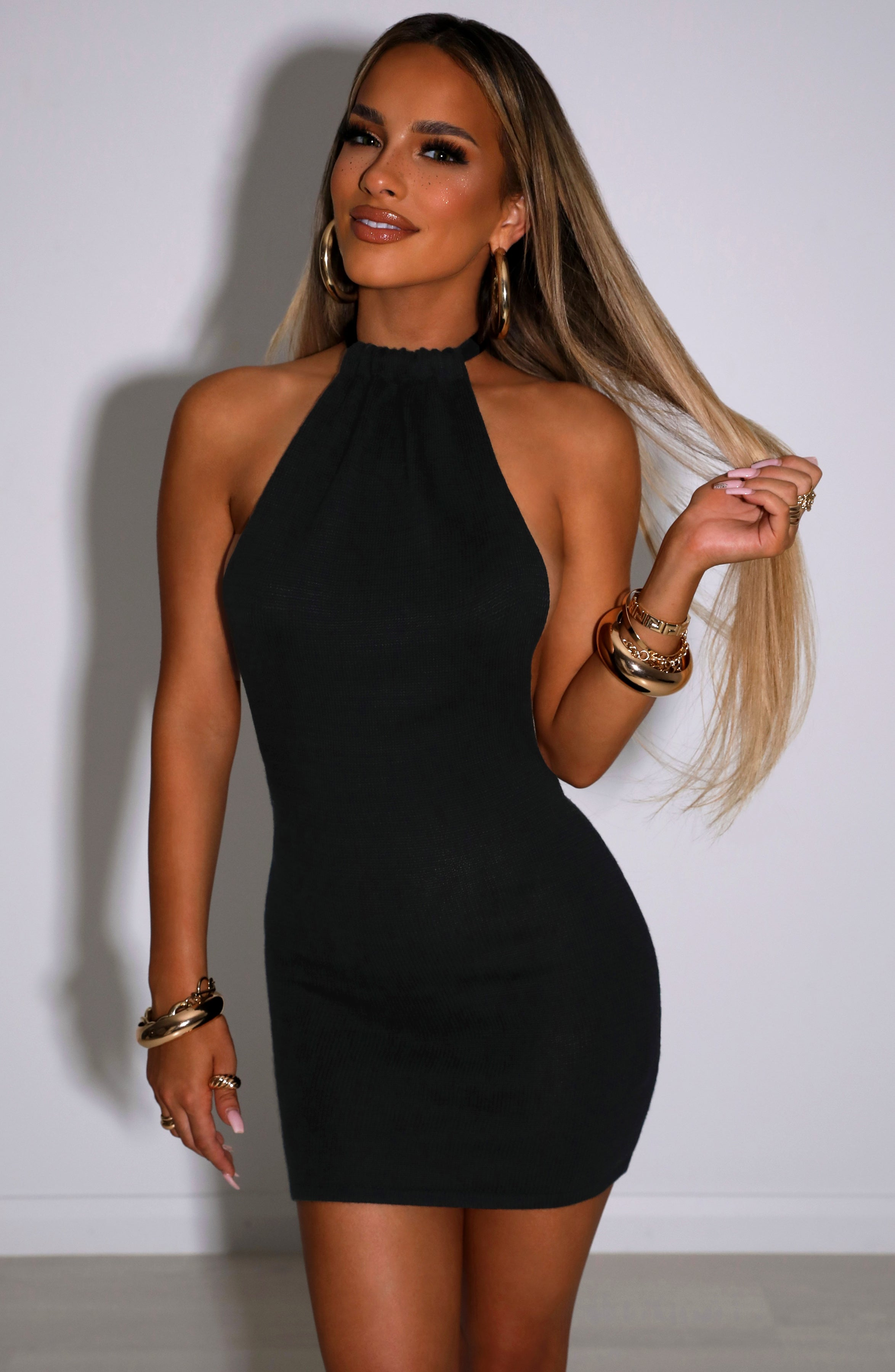 Rosalia Mini Dress - Black