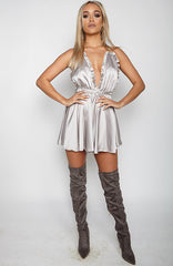 Attitude of Mine Playsuit - Silver