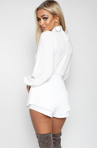 Ice Cube Leotard - White