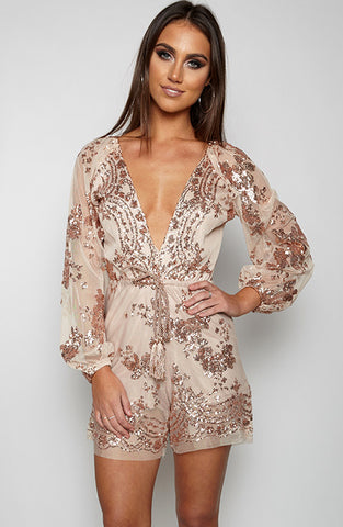 Release Me Playsuit - Gold