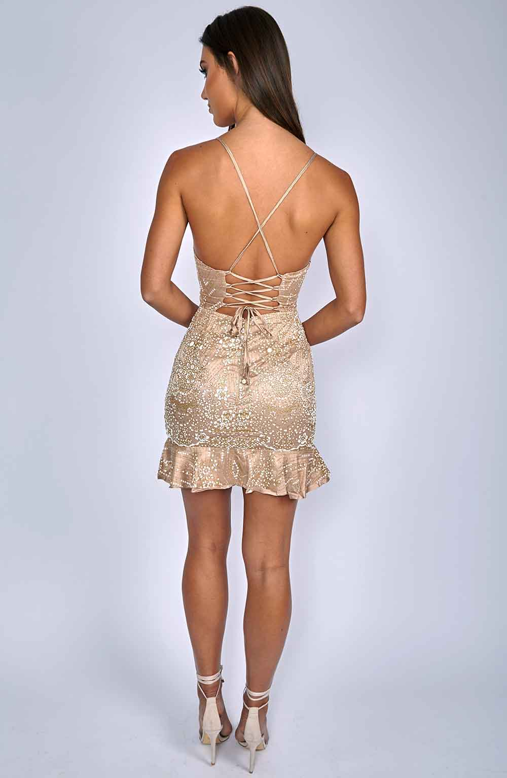 Ebba Dress - Gold