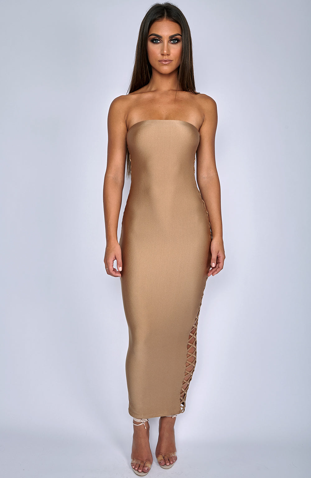 Exposed Dress - Mocha