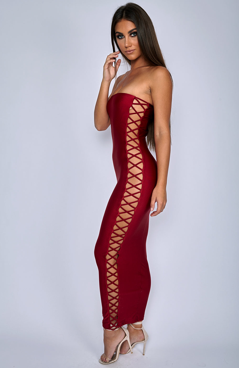 Exposed Dress - Wine