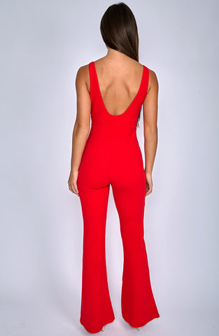 Valerie Jumpsuit - Red