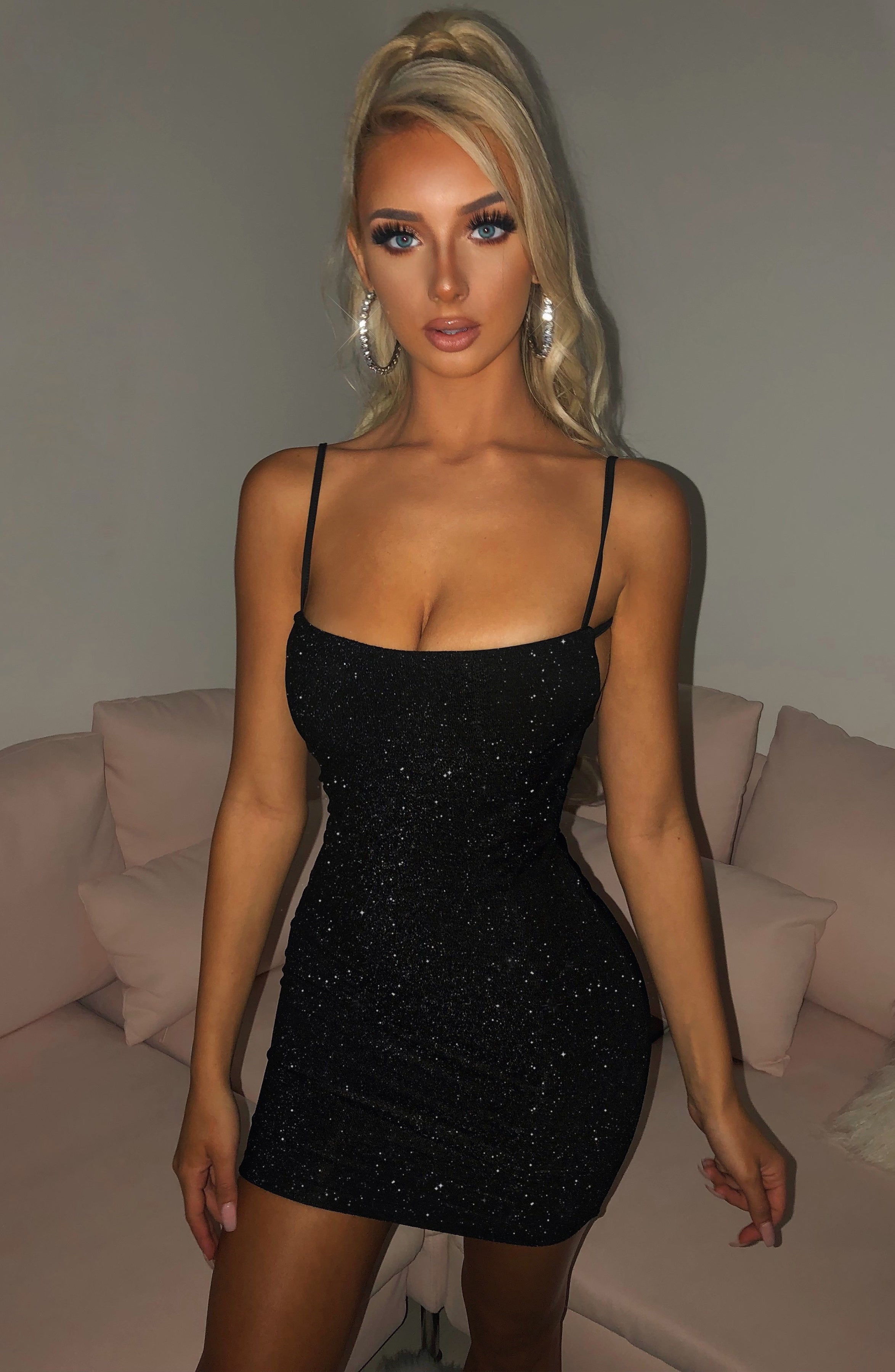Sahara Mini Dress - Black Sparkle