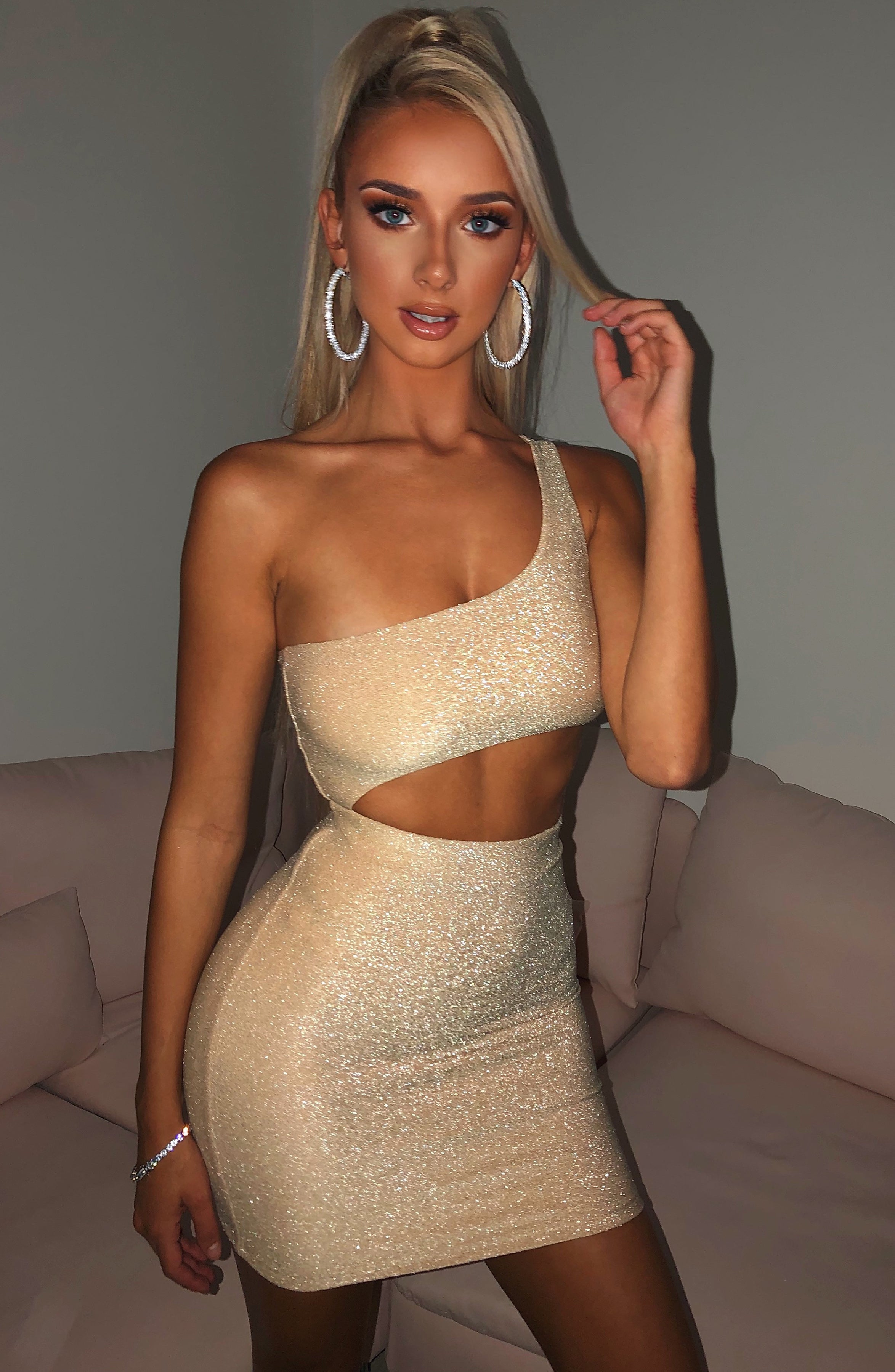 Sharlize Mini Dress - Gold Sparkle