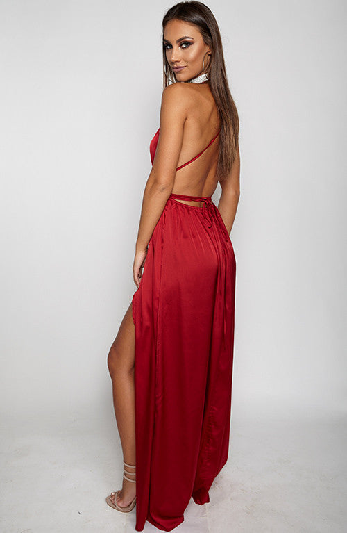 Lita Maxi Dress - Maroon