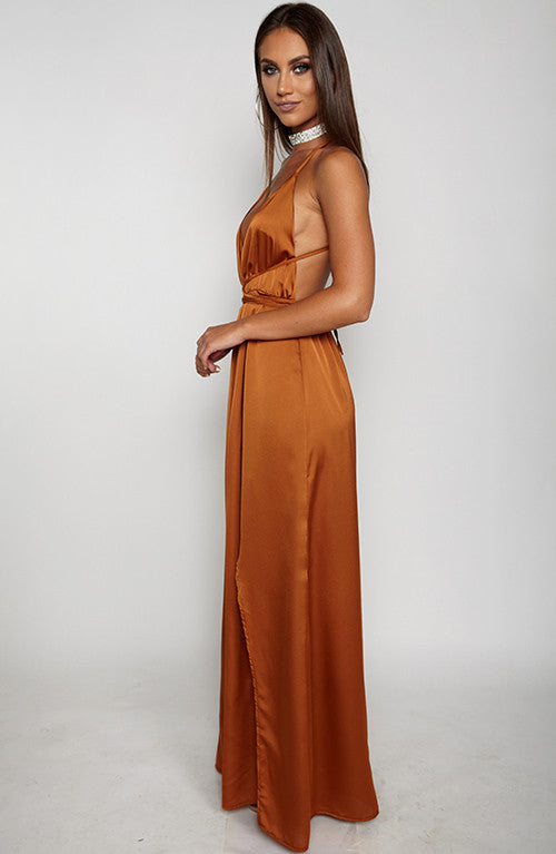 Lita Maxi Dress - Brown