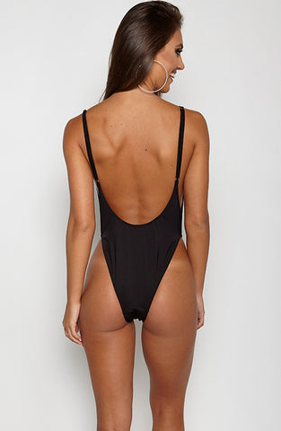 Bae Watch One Piece Swimsuit - Black