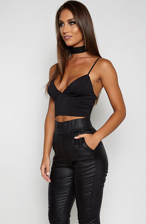 Back At It Crop - Black