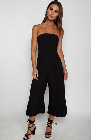 Trap Queen Jumpsuit - Black