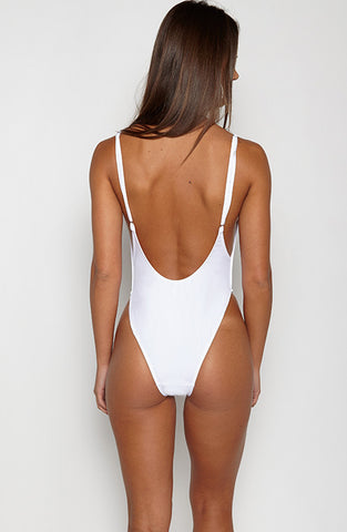 Bae Watch One Piece Swimsuit - White
