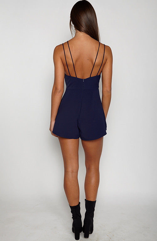 After Party Playsuit - Navy