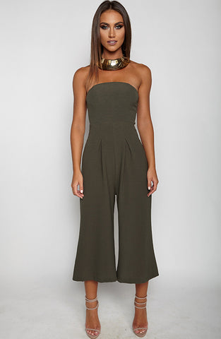 Trap Queen Jumpsuit - Khaki