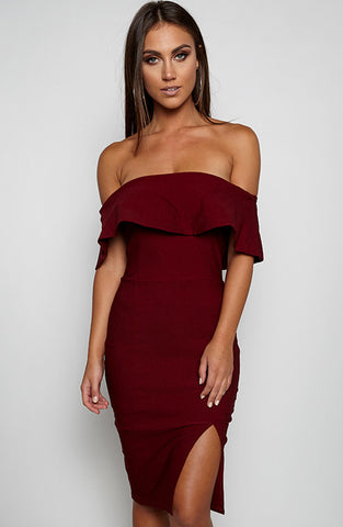 Beats Me Dress - Maroon