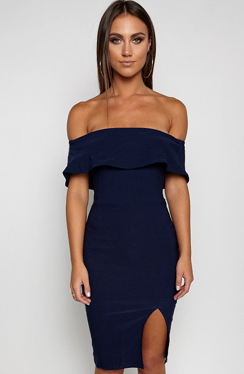 Beats Me Dress - Navy