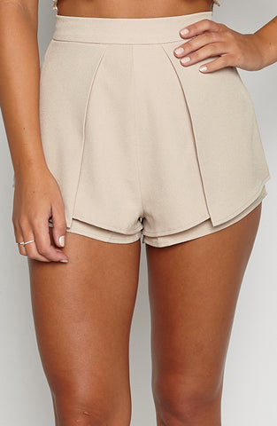 Luxury Life Shorts - Tan