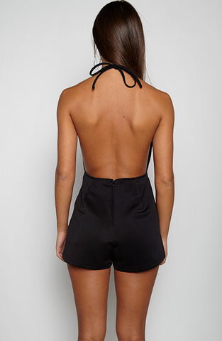 Excuses Playsuit - Black