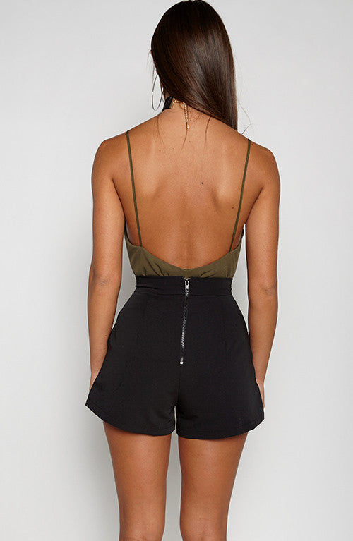 Be Mine Bodysuit - Khaki