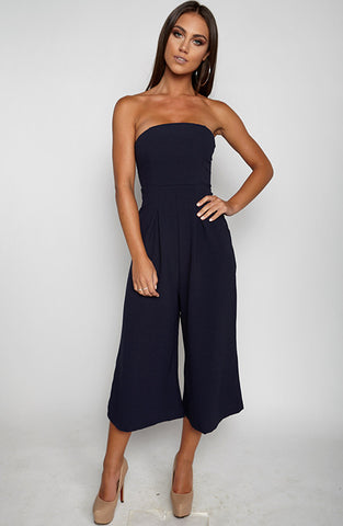 Trap Queen Jumpsuit - Navy