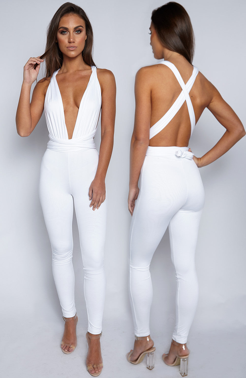 Luxe Life Jumpsuit - White