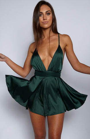 Unconditional Love Playsuit - Emerald