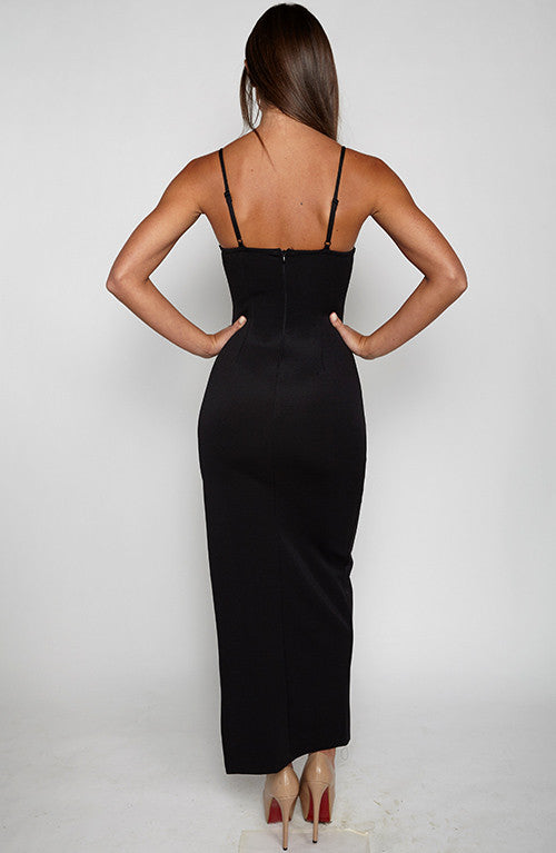 Fair Game Maxi Dress - Black
