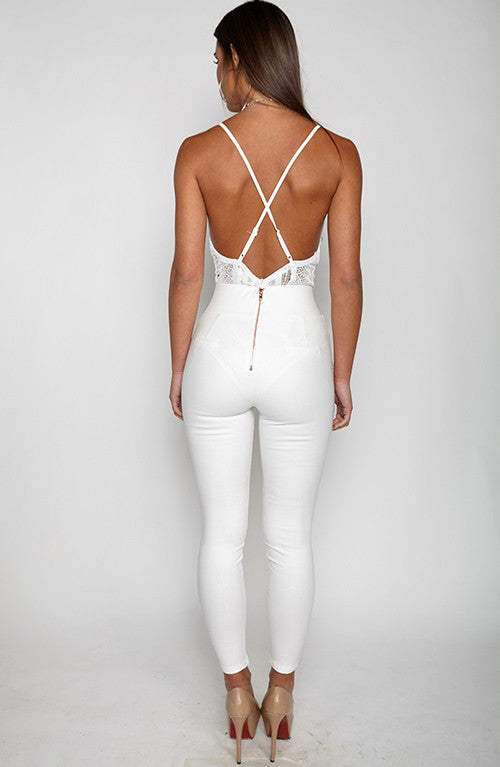 Miss Independent Bodysuit Leotard - White