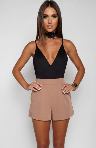 Hot Right Now Bodysuit Onepiece - Black