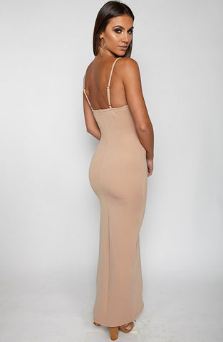 Fair Game Maxi Dress - Tan