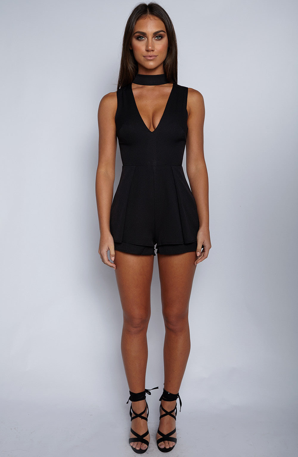 Cage Him In Playsuit - Black