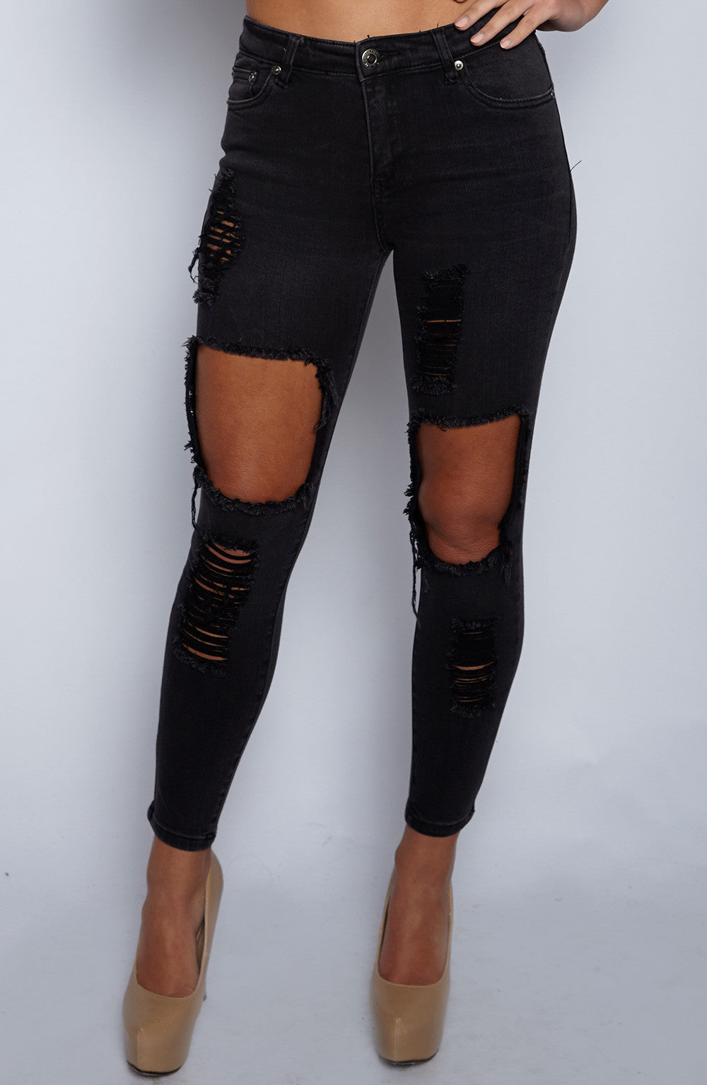Honey Crush Jeans - Black Denim