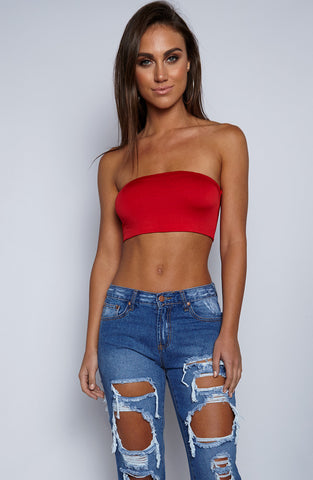 Beka Bandeau Crop - Red