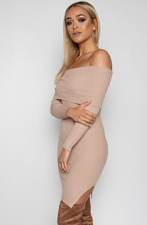 Bend and Snap Dress - Tan
