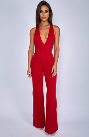 LA Bish Jumpsuit - Red