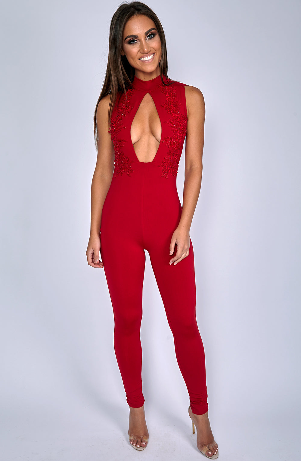 Take It Or Leave It Jumpsuit - Red