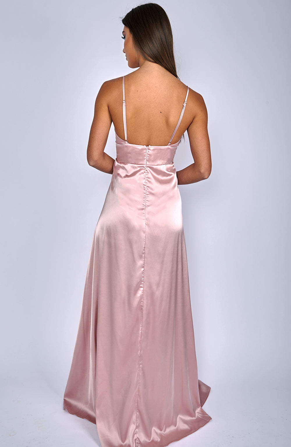 Slipped Through Maxi Dress - Dusty Pink