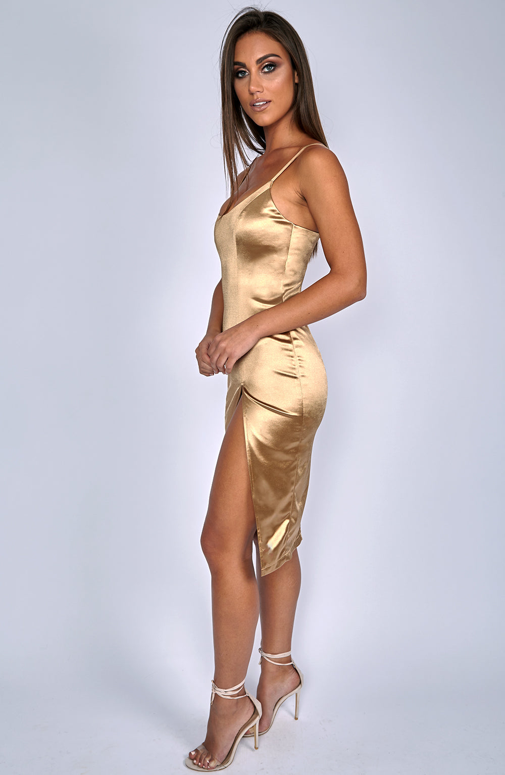 Forbidden Romance Dress - Bronze