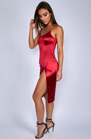 Forbidden Romance Dress - Wine