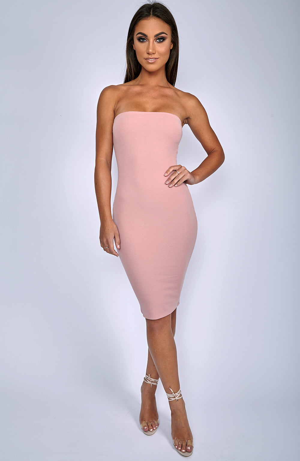 Zaria Dress - Dusty Pink