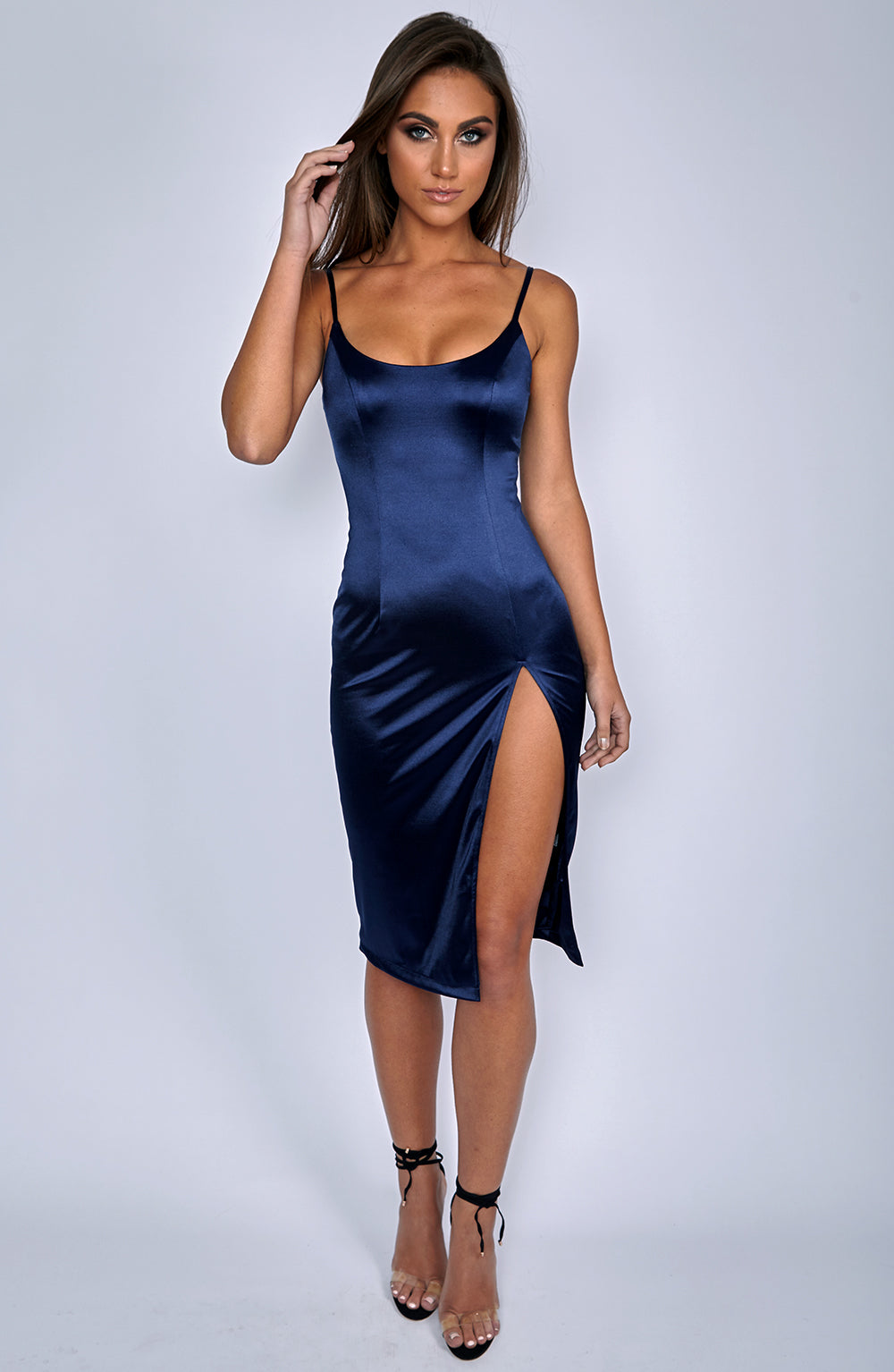 Forbidden Romance Dress - Navy