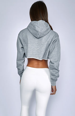 Mila Cropped Jumper - Grey