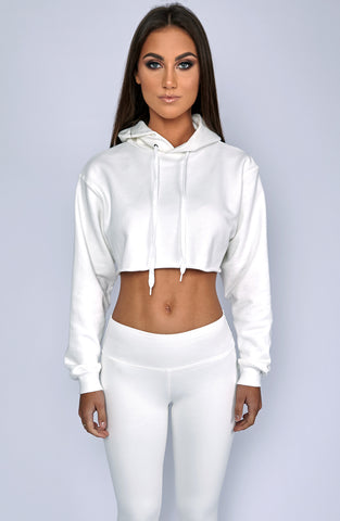 Mila Cropped Jumper - White